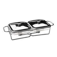 Doppel-Speisewärmer mit Marinex Glasschalen
