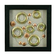 Wandbild Kupferkreise