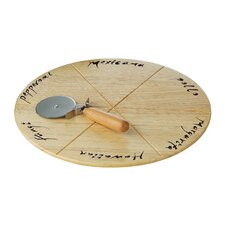 Pizza Board with Pizza Cutter