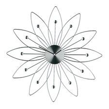 Analoge Wanduhr Blumen 49 cm