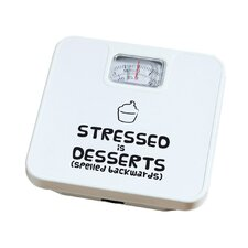"""""""Stressed is Desserts"""" Bathroom Scale"""
