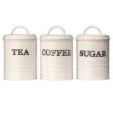 Sketch Tea, Coffee and Sugar Canister