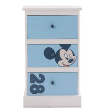 Mickey 3 Drawer Bedside Table