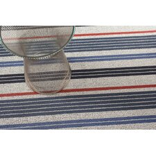 Mixed Stripe Shag Floor Mat