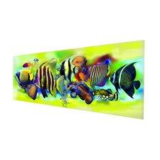 Glasbild Tropical Fishes Grafikdruck
