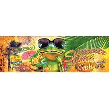 Glasbild Summertime Frog Grafikdruck