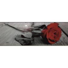 Glasbild Rose - 33 x 95 cm
