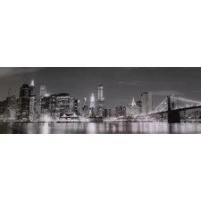 Glasbild NY B&W Skyline Fotodruck