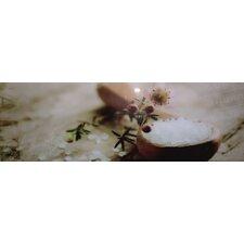 Glasbild Salt - 33 x 95 cm