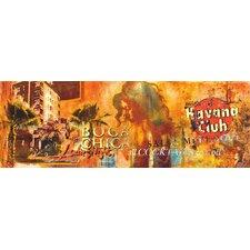 Glasbild Boca Chica Typografische Kunst