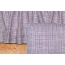 Lavender Rose Plaid Quilted Cotton Euro Sham