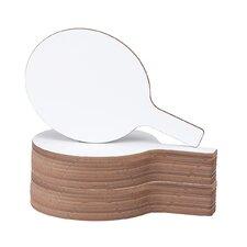 Dry Erase Answer Paddles Lap Board Whiteboard, 1' H x 1' W (Set of 24)