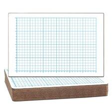 Two-Sided Quadrant Grid Dry Erase Whiteboard (Set of 12)