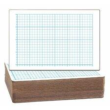 Two-Sided Quadrant Grid Dry Erase Whiteboard (Set of 24)