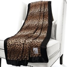 Luxe Leopard Faux Fur Fabric Throw