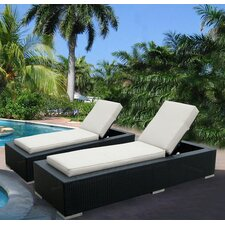 Sunbrella Chaise Lounge with Cushion (Set of 2)