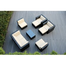 9 Piece Deep Seating Group with Cushions