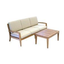 Teak 2 Piece Deep Seating Group with Cushion