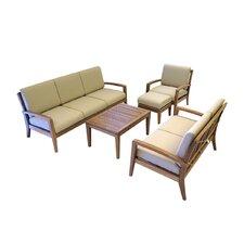 Teak 5 Piece Deep Seating Group with Cushion