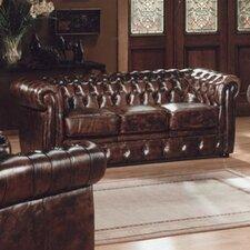 3-Sitzer Chesterfield Sofa  aus Leder
