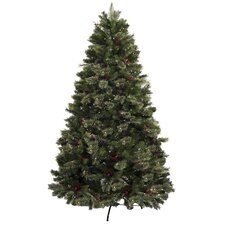 7.5' Green Artificial Christmas Tree with 500 Clear Lights