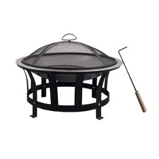 Stainless Steel Black & Silver Fire Pit