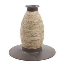 Catit Blow Molded Vase Corn-husk and Sisal Cat Scratching Post