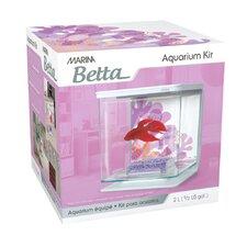Marina 0.5 Gallon Flower Design Betta Aquarium Kit