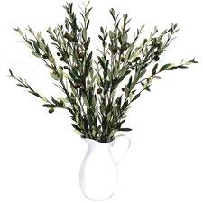 Olive Branches Tree in Decorative Vase