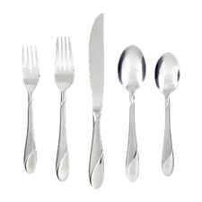 Swirl Sand 89 Piece Flatware Set