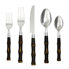 20-Piece Estelle Bamboo Flatware Set