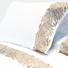 Cristal Feather Embroidered 400 Thread Count Sheet Set