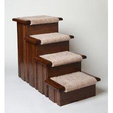 Raised Panel 4 Step Pet Stair