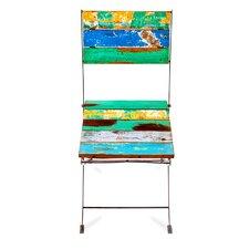 Teak for Two Reclaimed Wood Folding Side Chair