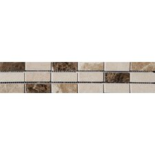 Elgin 5cm x 30.5cm Natural stone Mosaic tile Tile in Cream/Brown