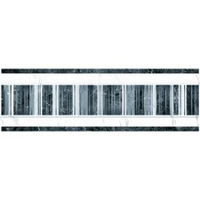 Elgin 8cm x 24.8cm Ceramic Field Tile Tile in White/Black