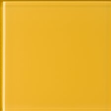 Impact Mustard 14cm x 60cm Glass Tile in Mustard