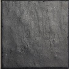 Turin 14.8cm x 14.8cm Ceramic Field Tile in Charcoal