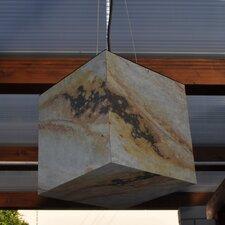 Geometrische Pendelleuchte 1-flammig Schiefer