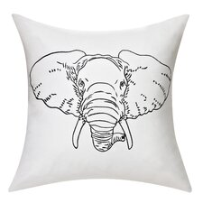 Swift Home Cotton Elephant Decorative Throw Pillow