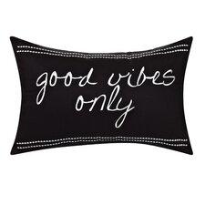 Swift Home Cotton Good Vibes Decorative Lumbar Pillow