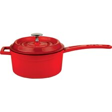 Signature Enameled Cast-Iron 1 Qt. Sauce Pan with lid