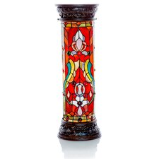 """Fleur De Lis Tiffany Style Stained Glass 30"""" H Floor Lamp"""