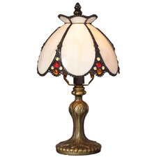 """Downton Abbey 12"""" H Stained Glass Table Lamp with Bowl Shade"""