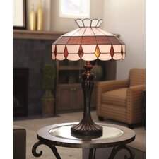 """Downton Abbey 24"""" H Stained Glass Table Lamp with Bowl Shade"""