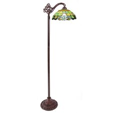 "Vivaldi Tiffany Style Stained Glass 60.5"" H Side Arm Floor Lamp"