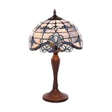 """Allistar Tiffany Style Stained Glass 20.5"""" H Table Lamp"""