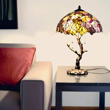 """Marvel Tiffany Style Stained Glass 24.5"""" H Table Lamp"""
