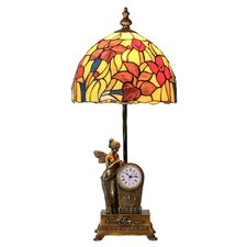 "Fairy Blossoms Tiffany Style Stained Glass 24"" H Table Lamp"