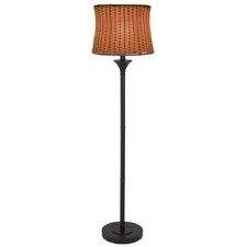 """Outdoor/Indoor Basketweave 59.5"""" Floor Lamp"""